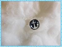 Kleiner Ring mit schoenem Ankermotiv, dunkelblau